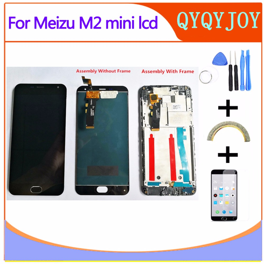 AAA Quality LCD +Frame For MEIZU M2 Mini Lcd Display Screen Replacement For MEIZU M2 MINI digiziter aseemblyAAA Quality LCD +Frame For MEIZU M2 Mini Lcd Display Screen Replacement For MEIZU M2 MINI digiziter aseembly