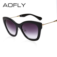 AOFLY New Fashion Cat Eye Sunglasses Women Oval Sunglasses Brand Designer Gradient Glasses Eyewear Vintage Oculos