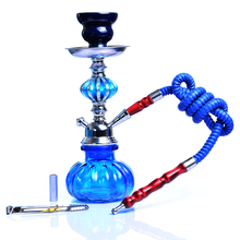 4 Color Glass Shisha Hookah Pipe Set With Ceramic Sheesha Bowl Synthetic Leather Hose Metal Charcoal Tongs Chicha Narguile Tools