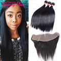 Peruvian Straight Lace Frontal Closure With Bundles Beauty Plus 7A Ear To Ear Frontal Lace Closure Peruvian Virgin Hair Straight