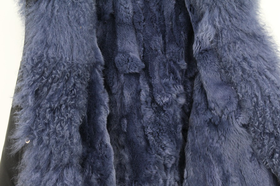 Parent-childs natural fur parkas with hood (27)