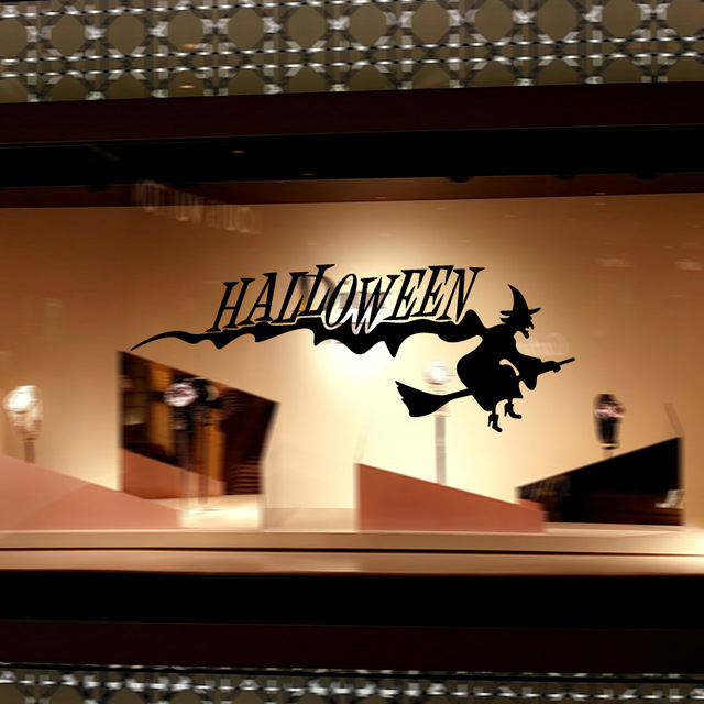 Wall Stickers Halloween Witch Decor Decals for Wall Decal Wall