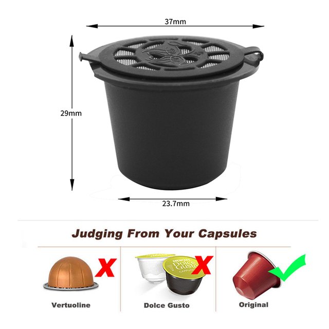 Refillable Nespresso Coffee Capsule
