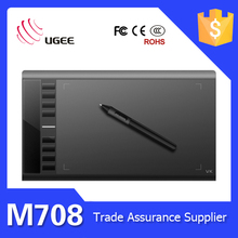 Cheaper M708 Graphics Drawing Tablet With Regargeable Stylus Pen On Sale