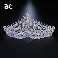 Be 8 Top Quality Wedding Bridal Cubic Zirconia Girls Women AAA Zircon Tiara CZ Crown Headband for Prom Hair Jewelry H054