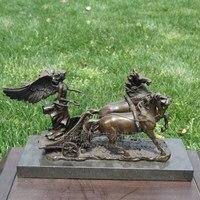 Медь колесница umako женский (труба) медные ремесла домашнего интерьера Медная скульптура орнамент конные перевозки
