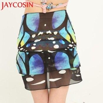 JAYCOSIN Women's Fashion Summer Chiffon Sunscreen Shawl Beach Bikini Swimwear Wrap Coverup Skirt Swimsuit Free shipping 30P 2