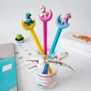 Image 3 - 30pcs Moon Unicorn Gel Pen Korean Cartoon Office School Writing Pens for Student Stationery Moon Neutral Pen Wholesale Gifts