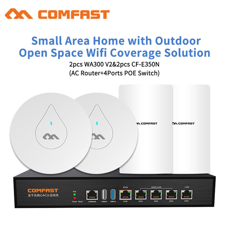 DHL Comfast for Home Outdoor and Indoor Wifi Coverage Solution 300Mbps Wireless Router AP Repeater 48V Poe Open DDWRT AP цена
