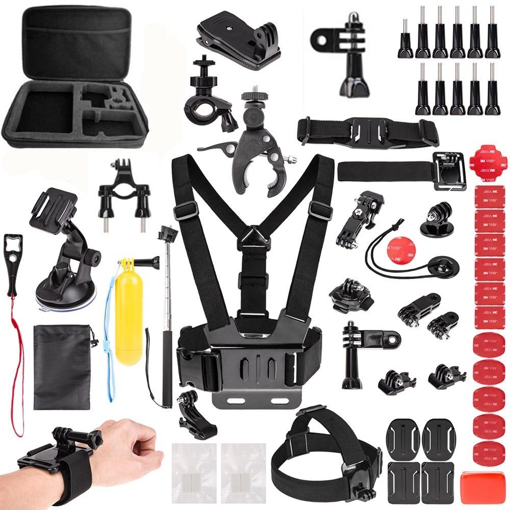 For Gopro Accessories Kit for HD mijia lite HERO6 5 4 3 & for SJ4000/SJ5000//SJ6000/SJCAM Xiao mi Yi 4K/M20 4K+APEMAN