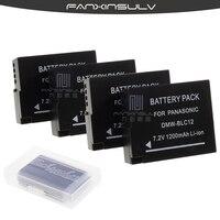 4Pcs DMW BLC12 DMW BLC12 Battery + 4 Battery case For Panasonic Lumix G6 G5 G7 FZ1000 FZ200 Camera Replacement Battery Batteria