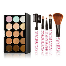 15 Colors Contour Face Cream Concealer Palette Long lasting with 5PCS Makeup Brushes Set Maquiagem Hot Sale