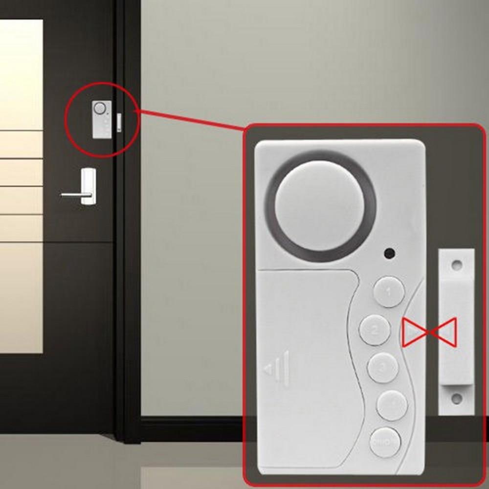 Magnetic Detector Door And Window Entry Warning Safety Burglar Alarm Wireless