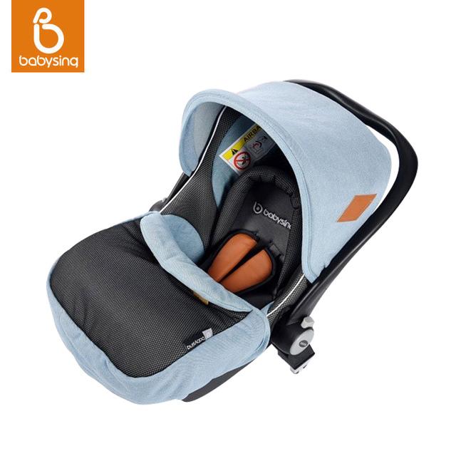 Babysing Portátil Assento de Carro Do Bebê de 5 Pontos Harness Para Recém-nascidos Infantil Viagem de Carro Assento de Segurança Cesta Rear-facing Instalação