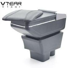 Vtear Para Skoda Fabia caixa Armazenar conteúdo caixa apoio de braço central suporte de copo Acessórios de decoração interior do carro-styling partes 08 -17