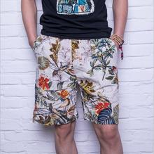 Summer fashion high quality pure cotton linen beach pants male quick-drying loose big yards 5 minutes of pants shorts short pant