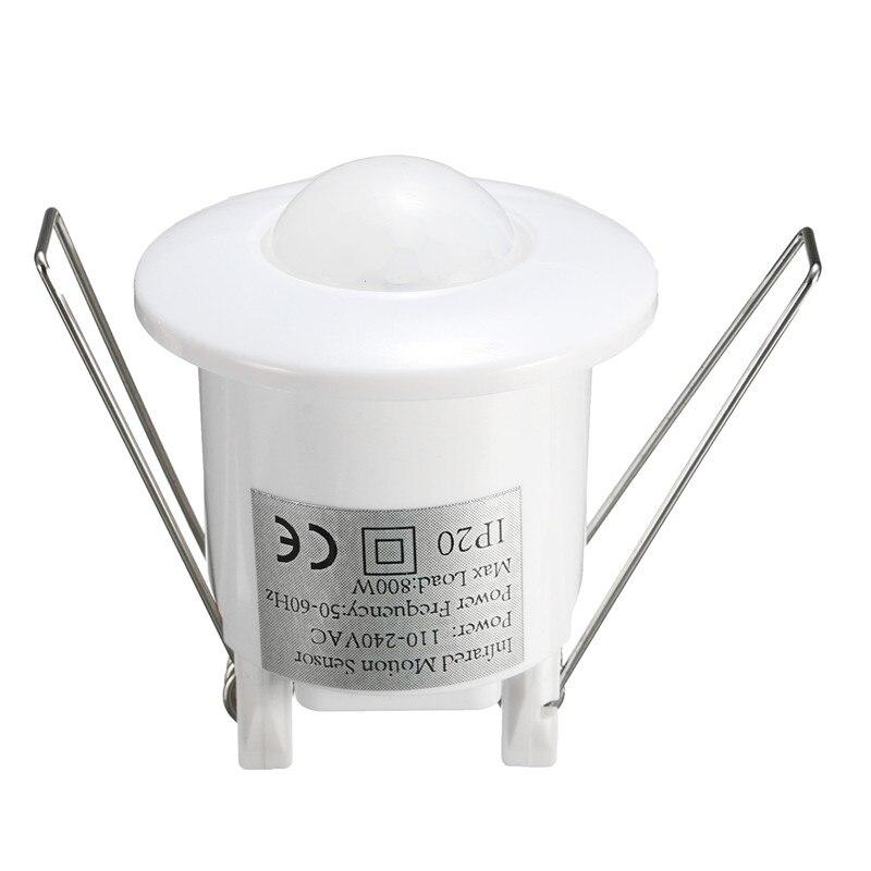 купить 1pcs 360 Degree Mini Recessed PIR Ceiling Occupancy Motion Sensor Detector Switch AC 220V-240V 50Hz 800W New по цене 479.98 рублей