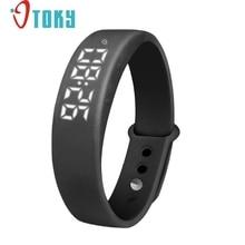 Excelente calidad nueva w5 inteligente muñequera pulsera inteligente podómetro sleep tracker termómetro seguidor inteligente smart watch para el regalo