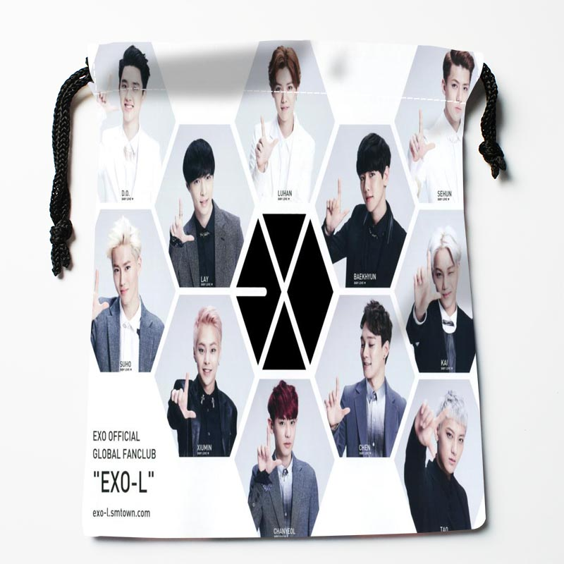 Custom EXO Drawstring Bags Custom Printed Gift Bags More Size 27x35cm Compression Type Bags