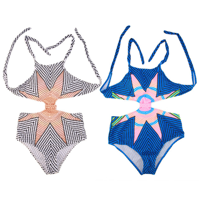 4862a1fe271 Bikini Push Up Women Spell Color Swimsuit Nylon Conjoined Maple Leaf Print  Swimwear free shipping