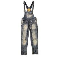 Новинка 2017 года Высокое качество Новый Мужская Мода карман Джинсовые комбинезоны для Обувь для мальчиков мужской Повседневное свободные К