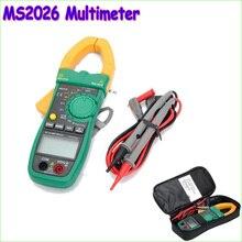 1 шт. MASTECH MS2026 Digital AC Токоизмерительные клещи Авто Диапазон Вольтметр Омметр Амперметр ж/Емкости и Частоты Тестер