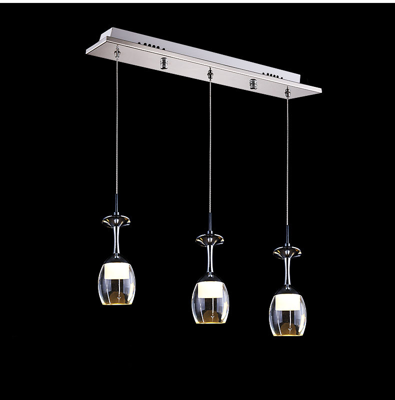 2017 new led wine glass pendant lamps high power 15w white. Black Bedroom Furniture Sets. Home Design Ideas
