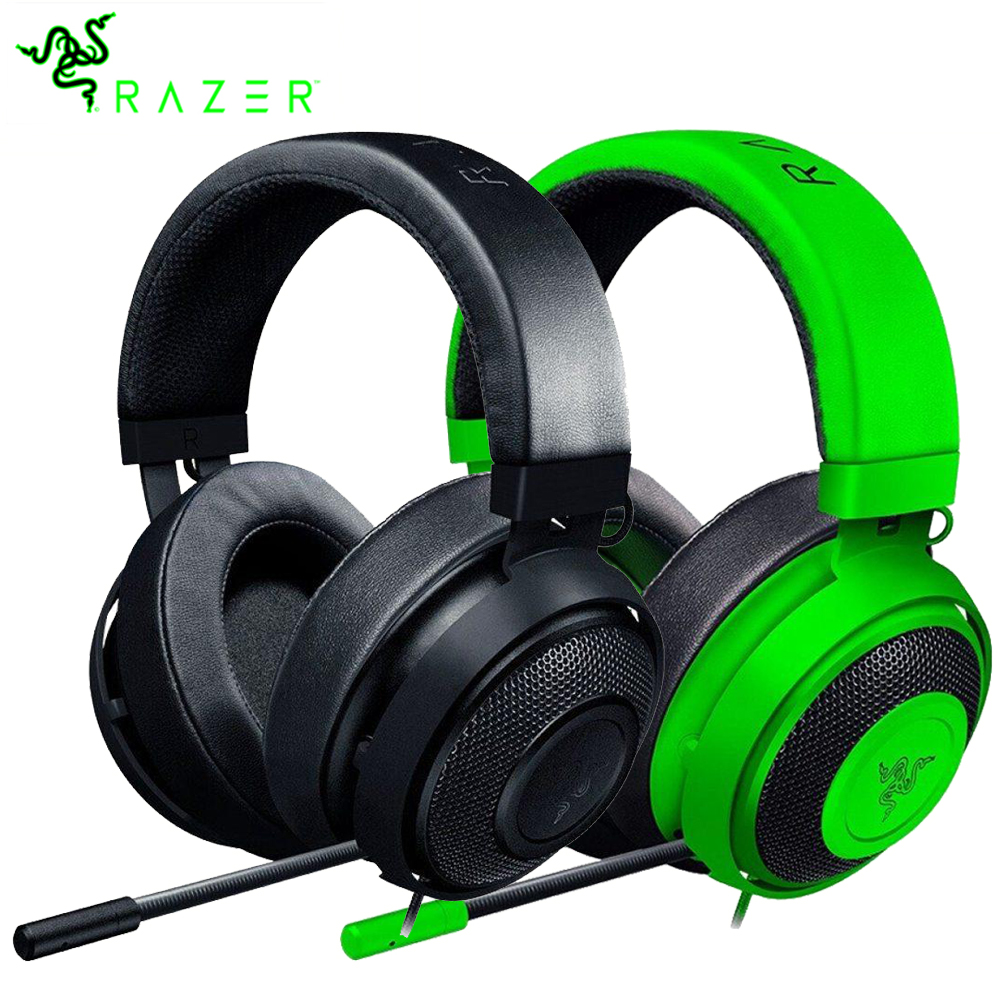 Razer Kraken 2019 version Headset Analog Gaming Headset with Mic Noise Cancelling Earcup Cushions for PC PS4 N-Switch Xbox Game spray de defensa personal
