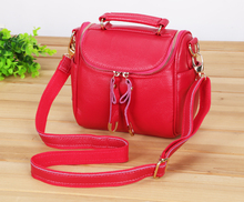 New 2014 Fashion Women Messenger Bags Handbag Genuine Leather Cowhide Camera Shoulder Bag Famous Brands