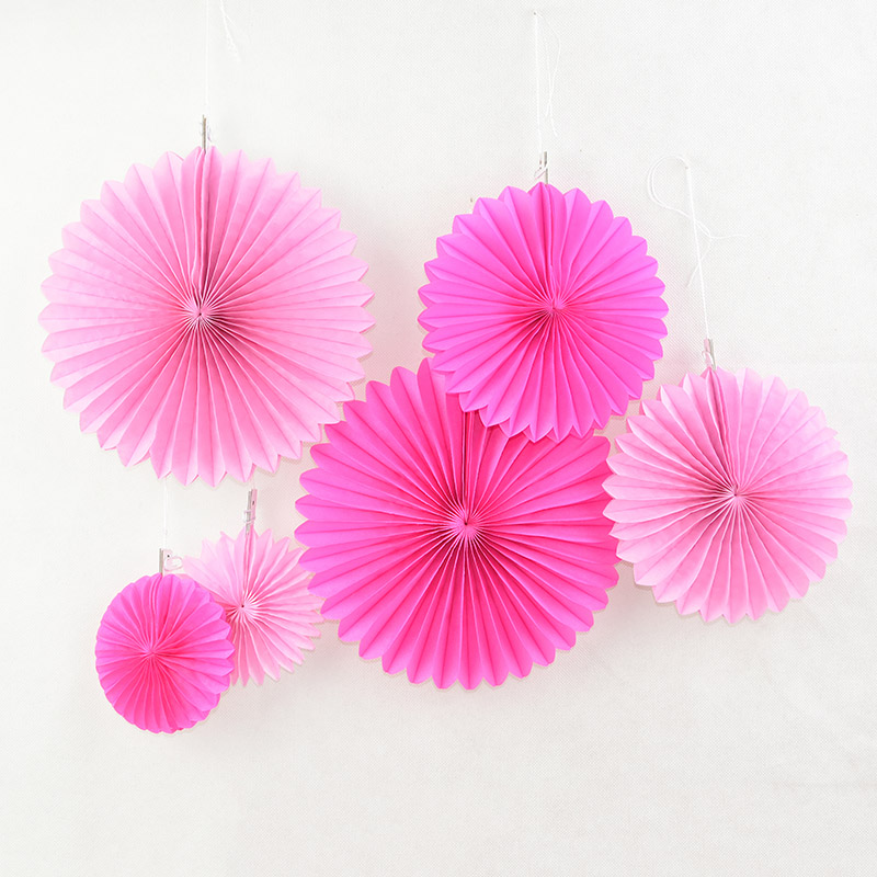 5pc 4-12inch Decorative Paper Fans Wedding Party Paper Crafts Hanging Paper Flower for DIY Wedding Birthday Festival Supplies