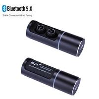 M2+ binaural wireless Bluetooth 5.0 auricular TWS headset sport run in ear mini ultra small earplug driving stealth subwoofer
