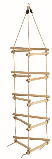 producto triangular de madera escalera de cuerda de escalada al aire libre conjunto de escalera de