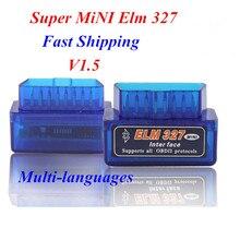 Последним elm интерфейс сканер версия диагностический bluetooth супер синий авто мини