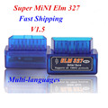 2016 Newest V1.5 Super MINI ELM327 Bluetooth OBD2 / OBDII ELM 327 Version 1.5 Blue Auto Diagnostic Interface Elm327 Scanner