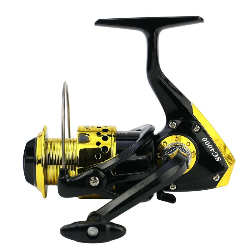 2020 LidaFish Brand SC1000-7000 Black Gold Series Plastic Plating  12BB Left/Right Hand Fishing Reel