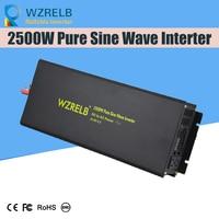 Пик полный мощность 2500 Вт Инвертор для солнечной системы конвертер двойное цифровое табло DC 12 В/24 В/48 В/110 В