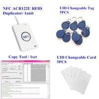 ACR122u NFC Reader Writer 13.56Mhz RFID Copier Duplicator + 5pcs UID Card + 5pcs UID Tag + M ifare Copy Clone Software