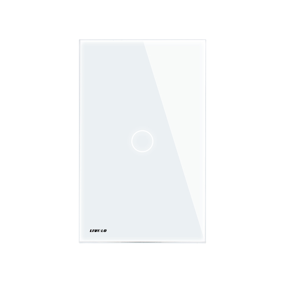 Livolo US standard Wall Light Remote&Touch Switch ,AC 110~250V ,White/Black glass panel, VL-C501R-11/12,Without Remote.