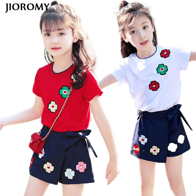 JIOROMY Children's Clothes Sets 2017 Summer New Han Edition with Cuhk  Wear Leisure T-shirt+ Skirts 2Pcs  Suit of The Girls travels of a t–shirt 1st edition with intro to international economics 1st edition set