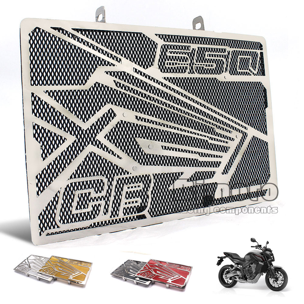 Black Motorcycle Engine Radiator Bezel Grill Grille Guard Cover Protector For Honda CB650F 2014 2015 2016 2017 CBR650F 2014-2017 arashi motorcycle radiator grille protective cover grill guard protector for 2008 2009 2010 2011 honda cbr1000rr cbr 1000 rr