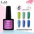6Pcs Gelartist Granulated Suger Gel Fashion Color DIY Decoration Professional Uv Soak Off DIY Nail Art