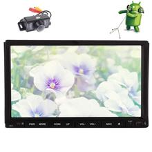 Backup Camera+Android 6.0 Car DVD GPS navigator Player Car Stereo with GPS Navigator Double Din Auto Radio WiFi 1080p video WiFi