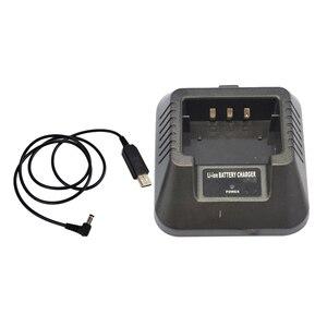 Image 4 - USB 충전기 어댑터 Baofeng UV 5R DM 5R BF F8 + BF F8HP 햄 워키 토키 유연한 입력 솔루션