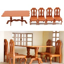 DIY Miniatura Furniture Dining Tables Chairs Sets For Mini Doll House Miniatures Furniture Toys Gifts For