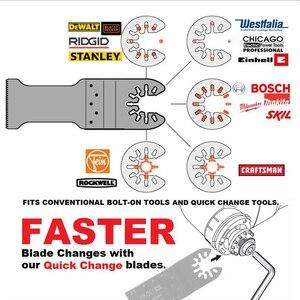 Image 4 - Newone lames de scie à oscillations en métal, en bois, 66 lames de scie à dégagement rapide, à oscillations en métal, adapté aux artisans Bosch, Fein Black et Decker