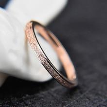 JeeMango, Ретро стиль, 2 мм, матовое кольцо из нержавеющей стали, серебро/розовое золото, обручальные кольца, ювелирные изделия для женщин, Anneau BXJ001