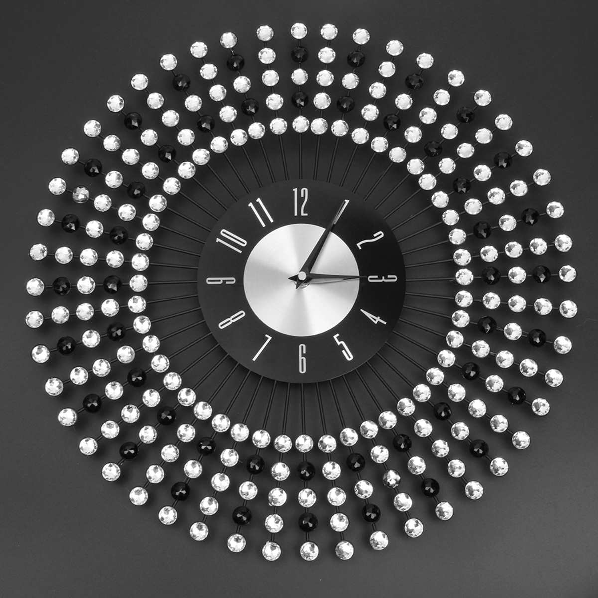 43CM Large 3D Diamond Wall Clock Watch For Home Living Room Decoration Morden Wall Clock Crafts Ornaments Gift
