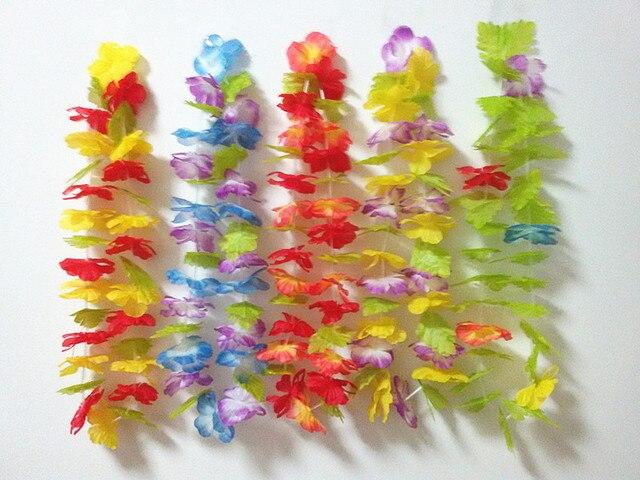 20pcslot hawaiian leis necklace tropical luau hawaii silk flower 20pcslot hawaiian leis necklace tropical luau hawaii silk flower lei theme party favors wreaths mightylinksfo