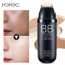 ROREC Air Cushion BB Cream with Roller Sun Block Concealer Moisturizing Foundation Bare Whitening Face Beauty Makeup Cosmetics