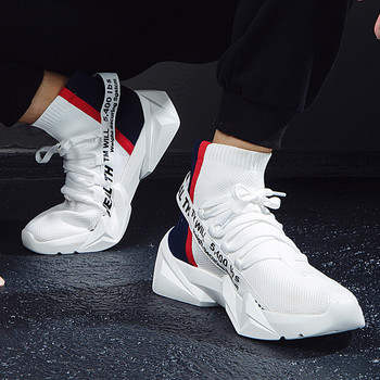 2019 Autumn High-Top Socks Sneakers Men Shoes Flyknit Breathable Casual Shoes Man Comfortable Sneakers For Walking BDP018